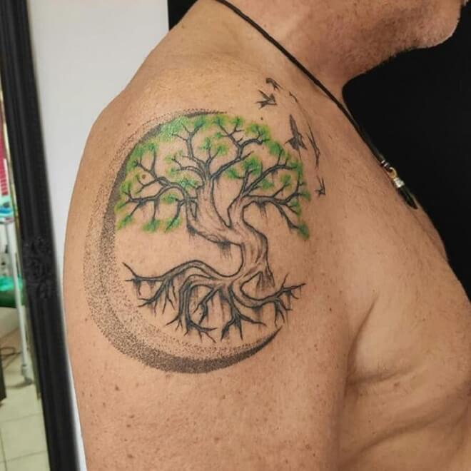 Body Tree Tattoo