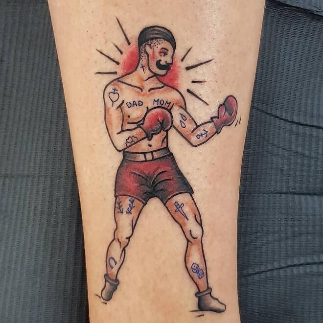 Boxer Sport Tattoo