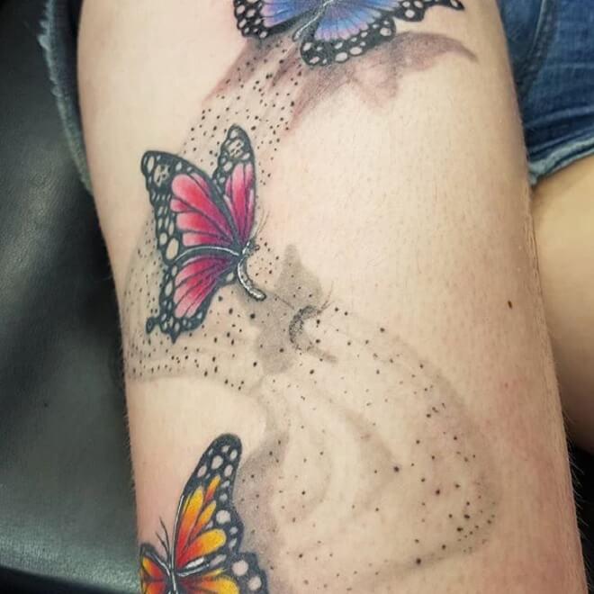Butterfly Girl Tattoo