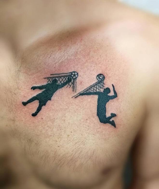 Chest Sport Tattoo
