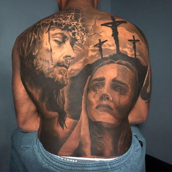 Christian Back Tattoo