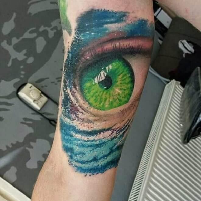 Color Eye Tattoo
