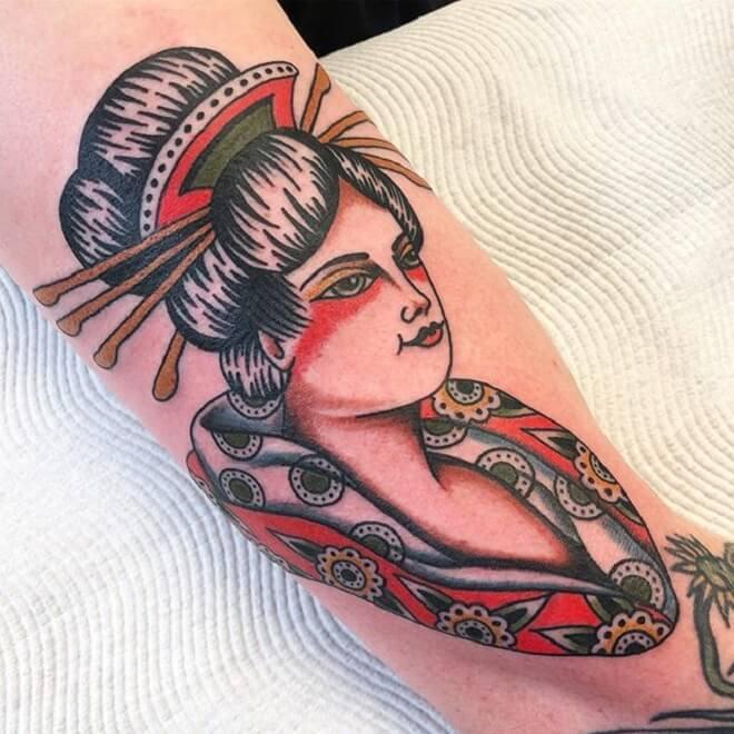 Color Geisha Tattoo