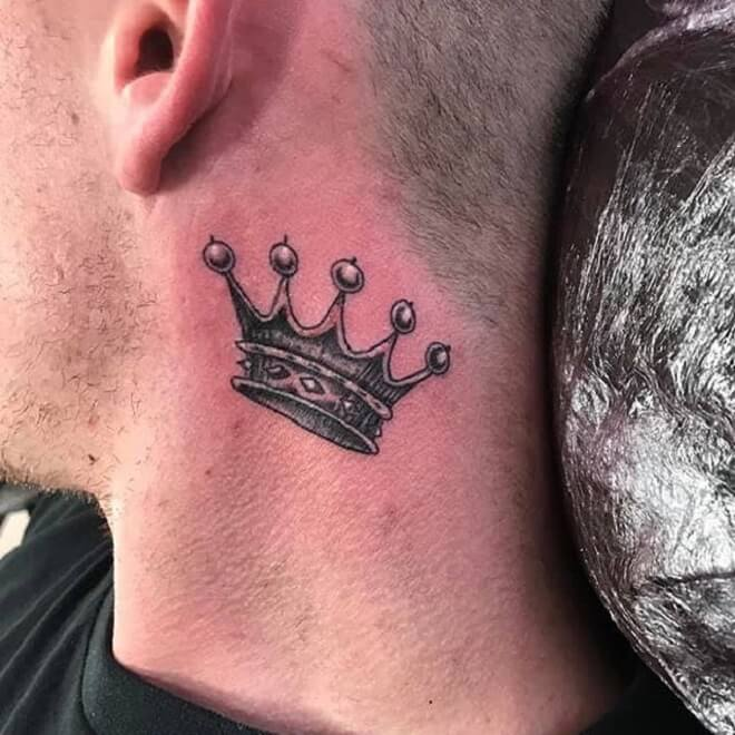 Crown Neck Tattoos
