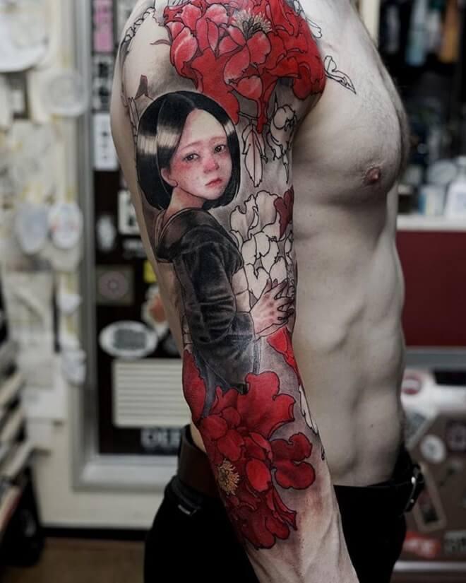 Cute Geisha Tattoo