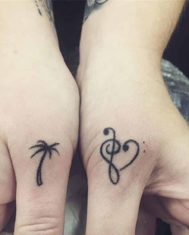 Cute Music Tattoo