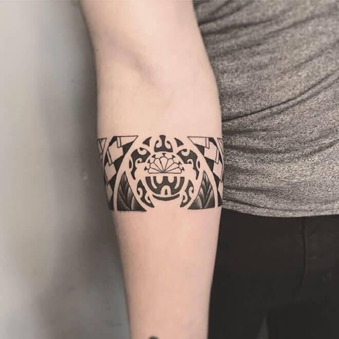 Cute Small Maori Tattoo