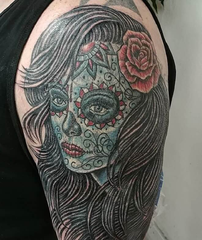Day of the Dead Girl Tattoo Art