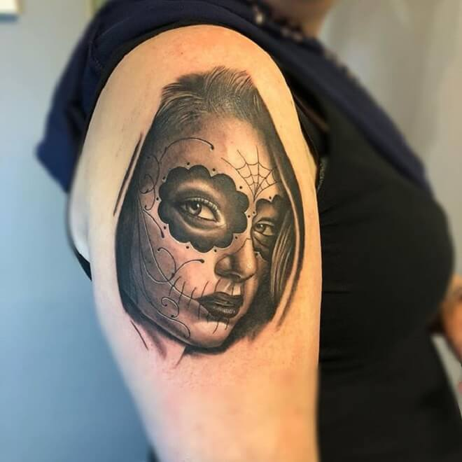 Day of the Dead Girl Tattoo Style
