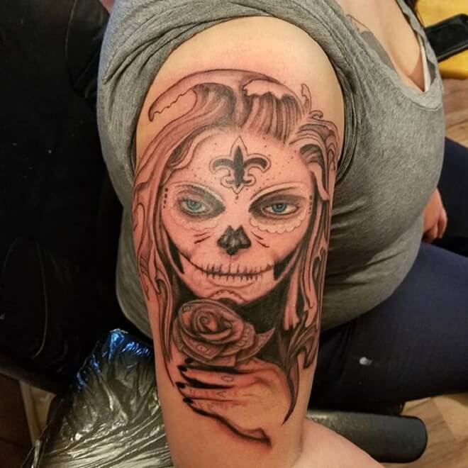 Day of the Dead Tattoo for Women