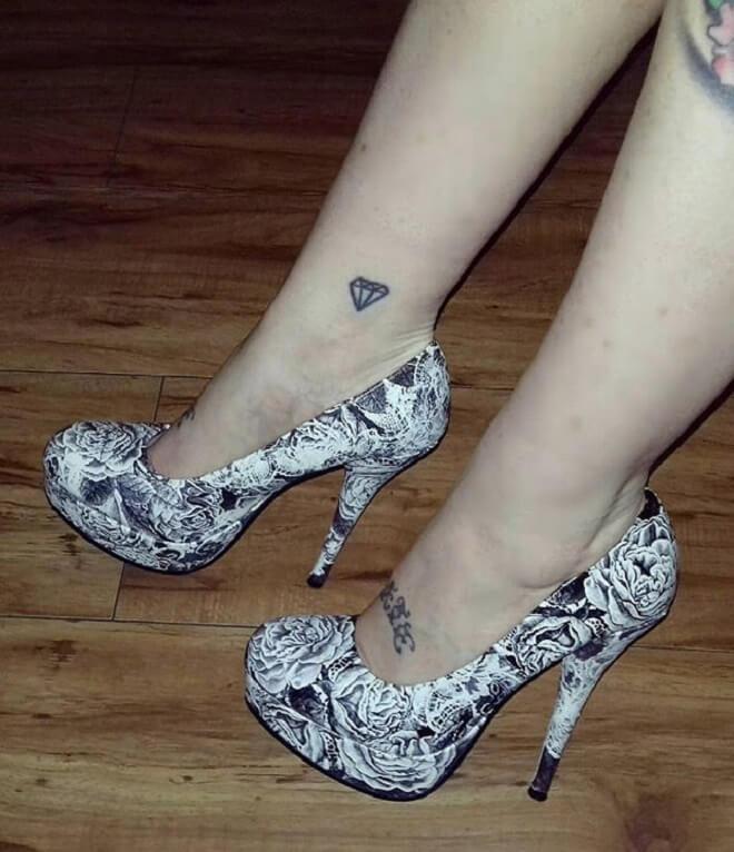 Diamond Ankle Tattoo