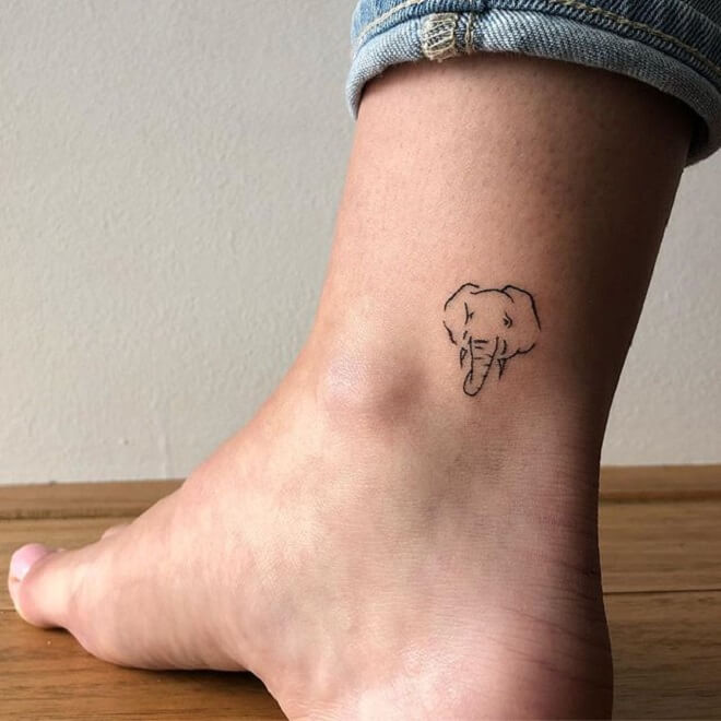 Elephants Ankle Tattoo