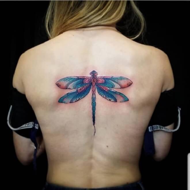 Female Dragonfly Tattoo