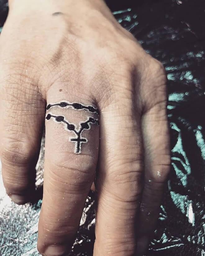 Finger Christian Tattoo