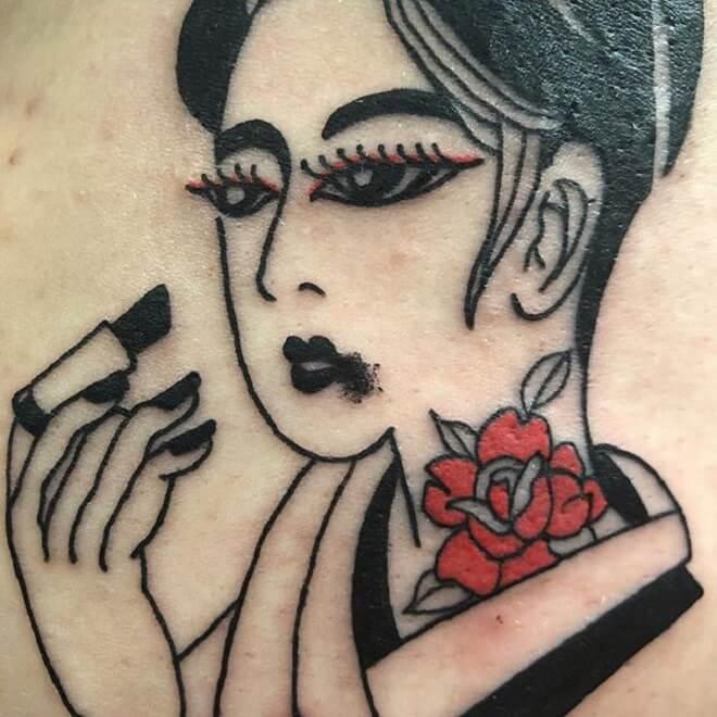 Flash Geisha Tattoo