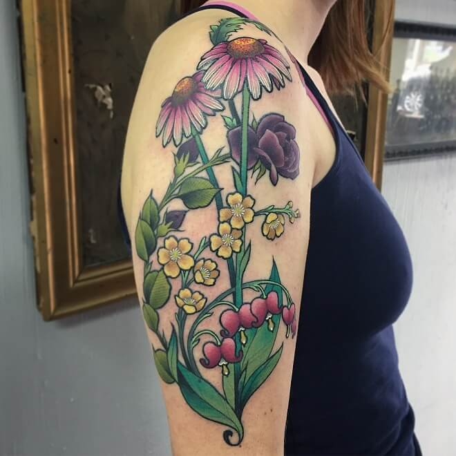 Floral Archive Tattoo