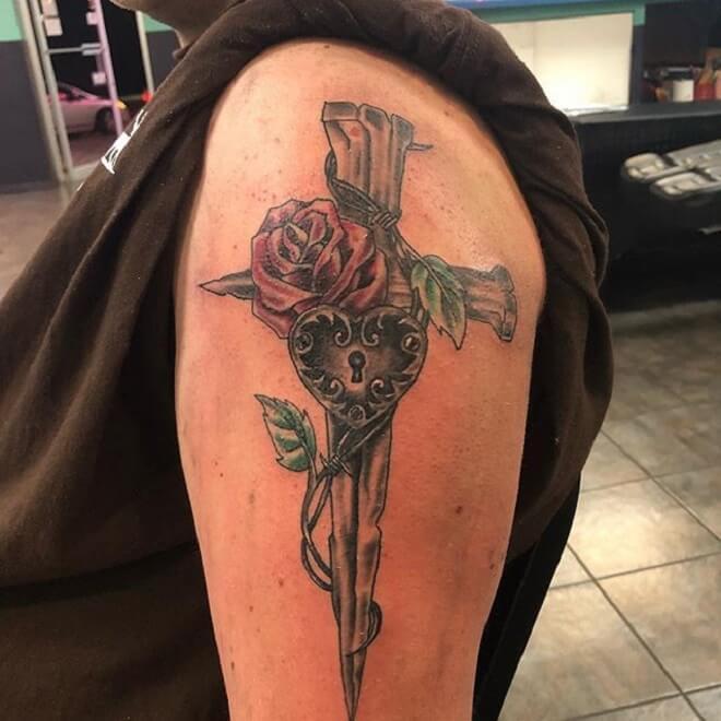 Flower Christian Tattoo