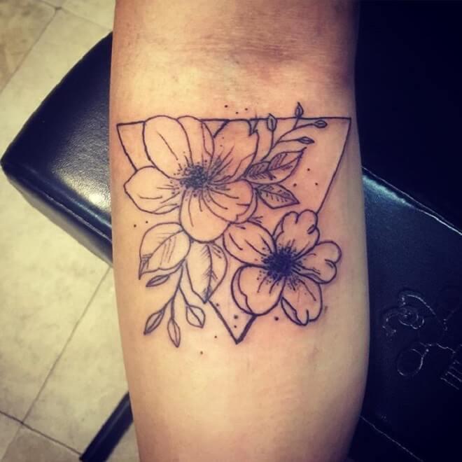 Flower Geometric Tattoo