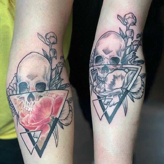 Flower through a Prism Tattoo