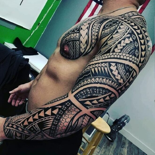Full Body Polynesian Tattoo