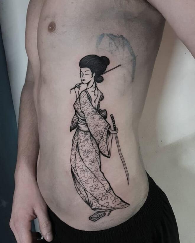 Geisha Black Designs Tattoo