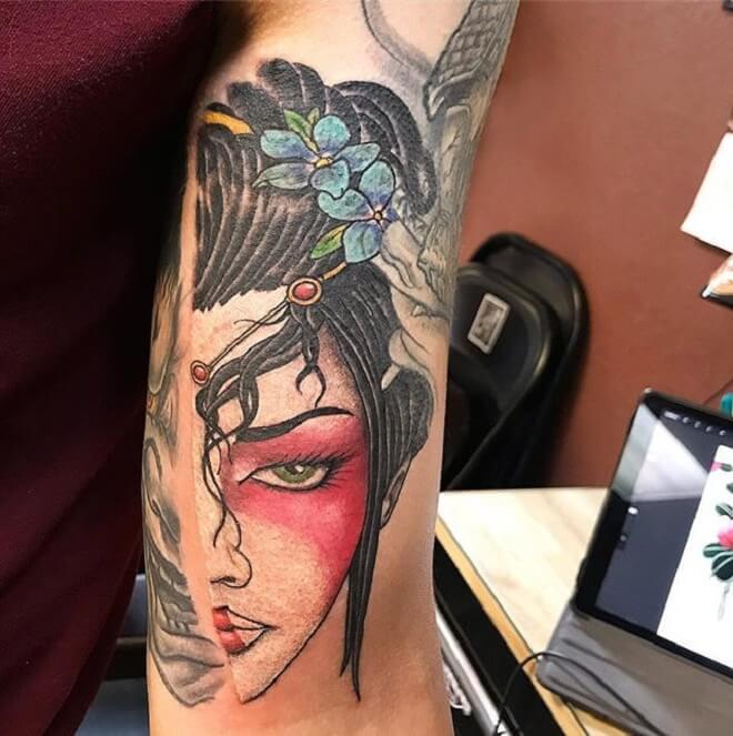 Geisha Tattoo Style