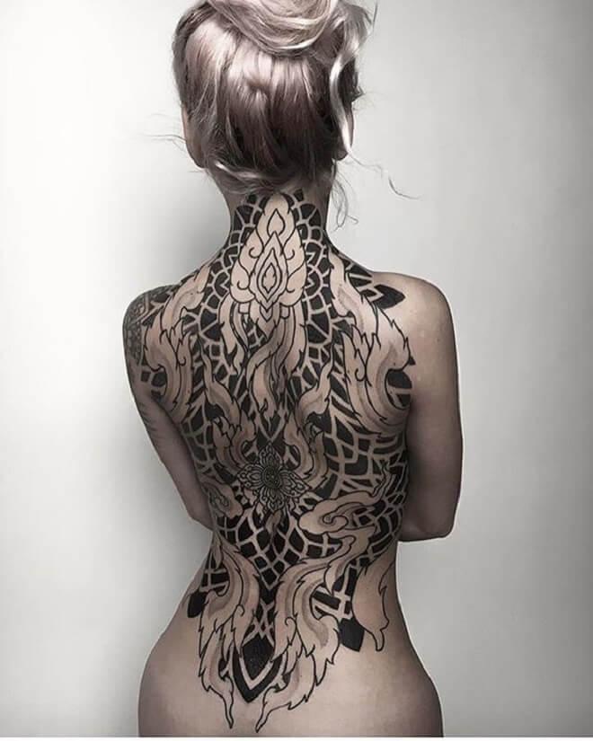Geometric Girl Tattoo