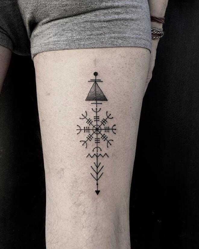 Geometric Gracias Tattoo
