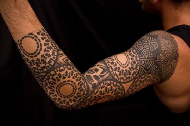 Geometric Hand Tattoo