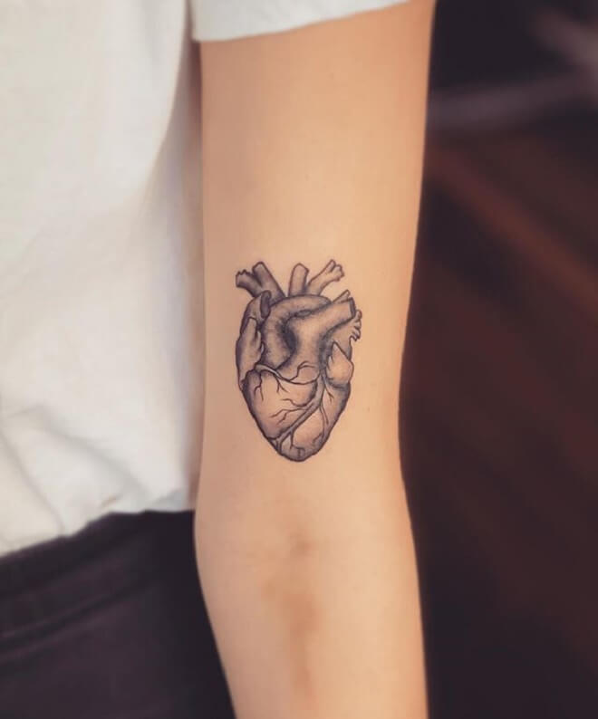 Girl Heart Tattoo