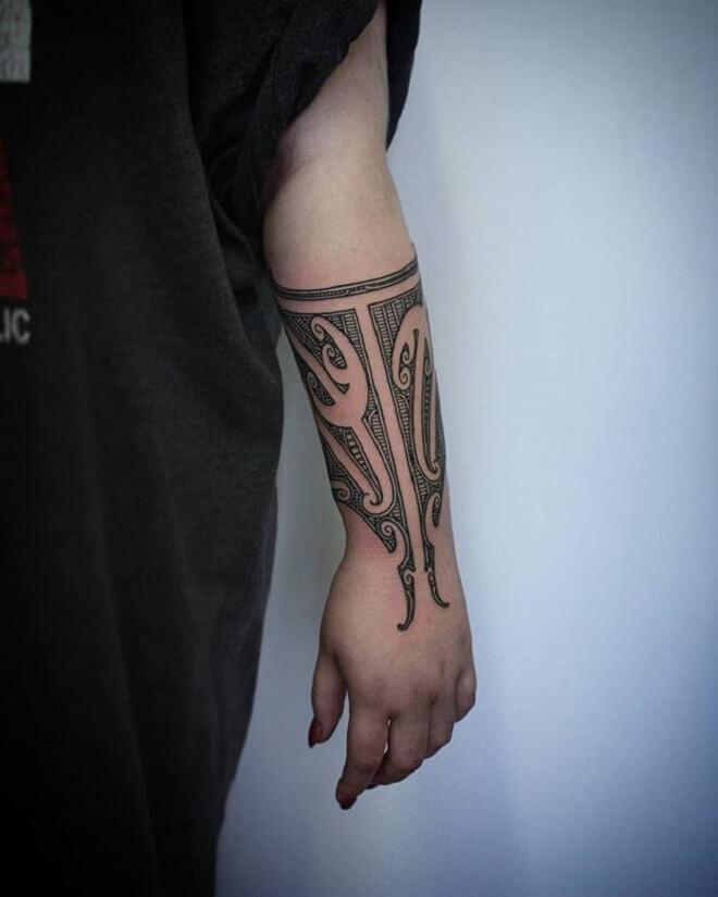 Girl Maori Tattoo