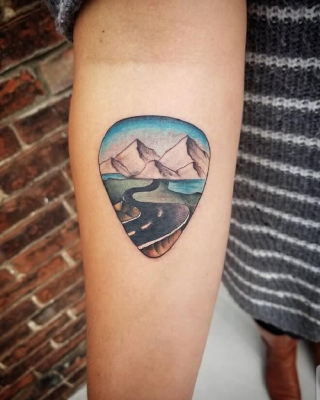 Girl Mountain Tattoo
