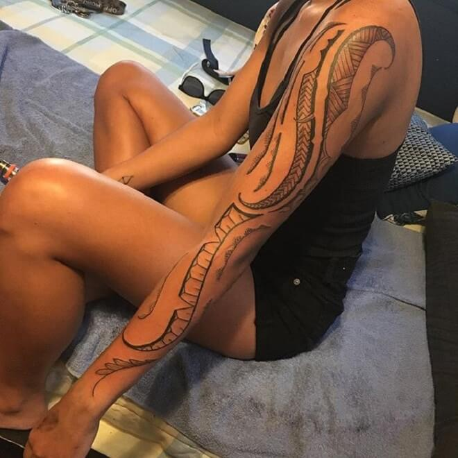Girl Polynesian Tattoo