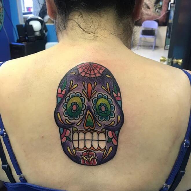 Girl Sugar Skull Tattoo
