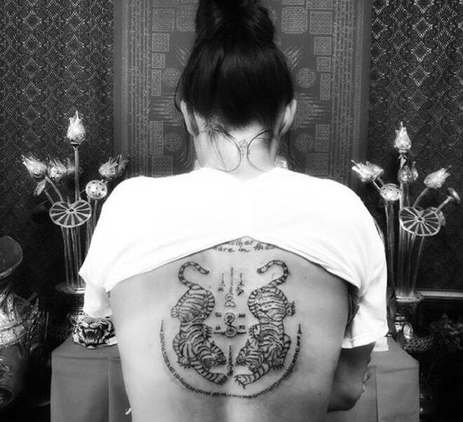Girl Tiger Tattoo