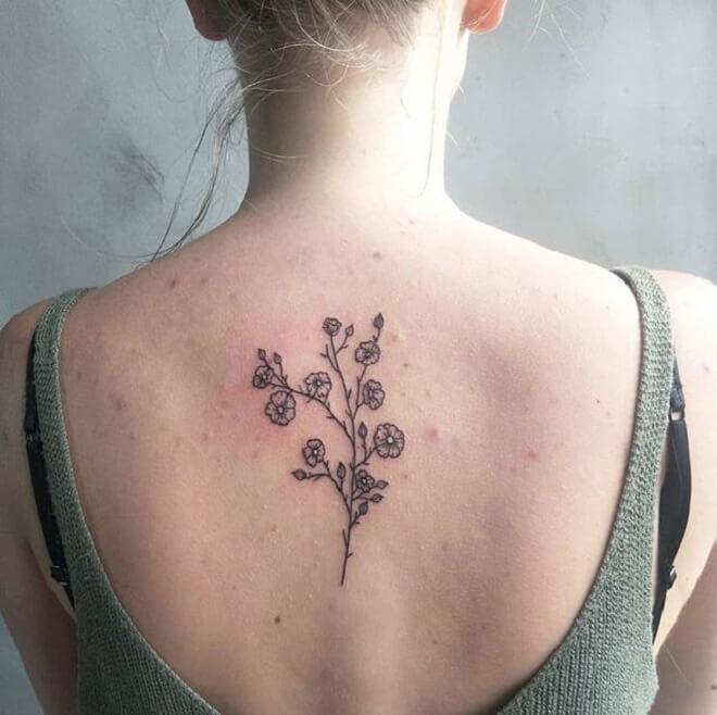 Girls Flower Tattoo