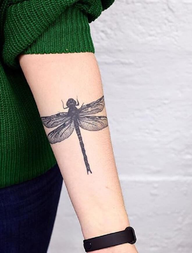 Hand Dragonfly Tattoo
