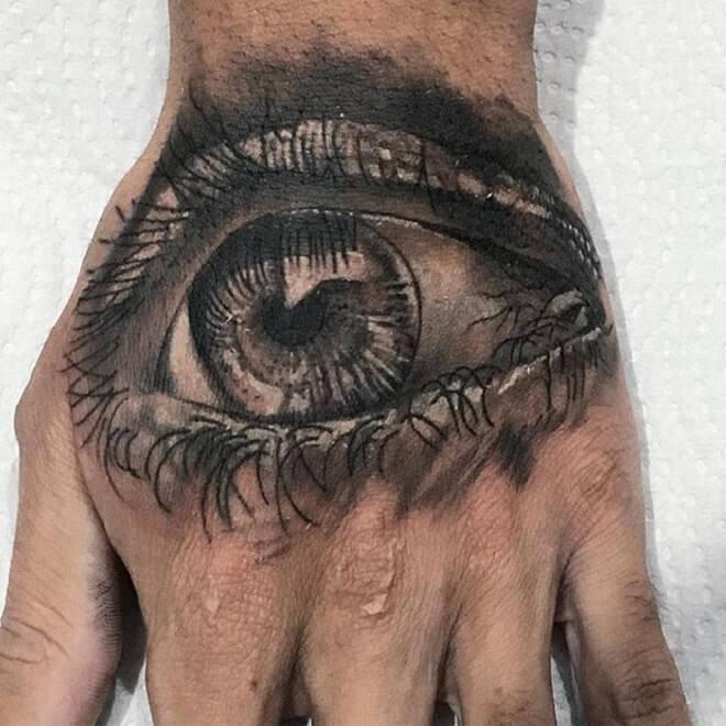 Finger Eye Tattoos