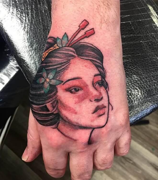 Hand Geisha Tattoo