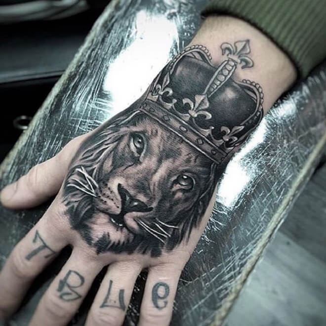 Hand Lion Tattoo