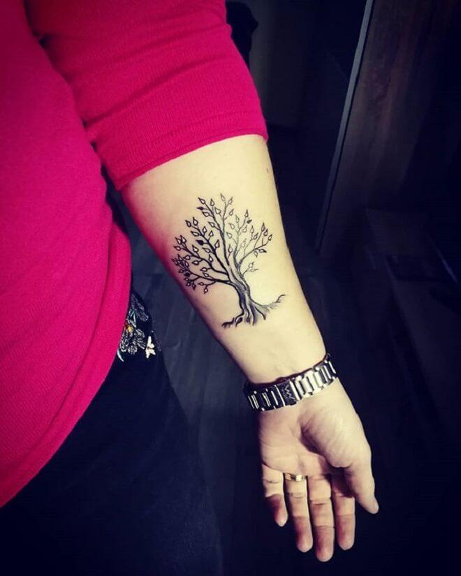 Hand Tree Tattoo Designs