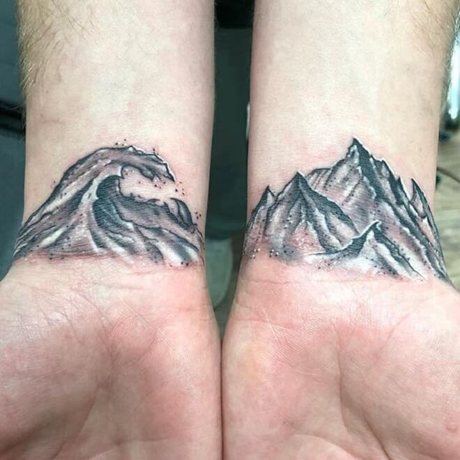 Hand Wave Tattoo