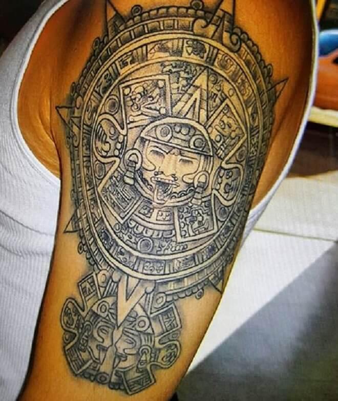 Incredible Aztec Tattoo