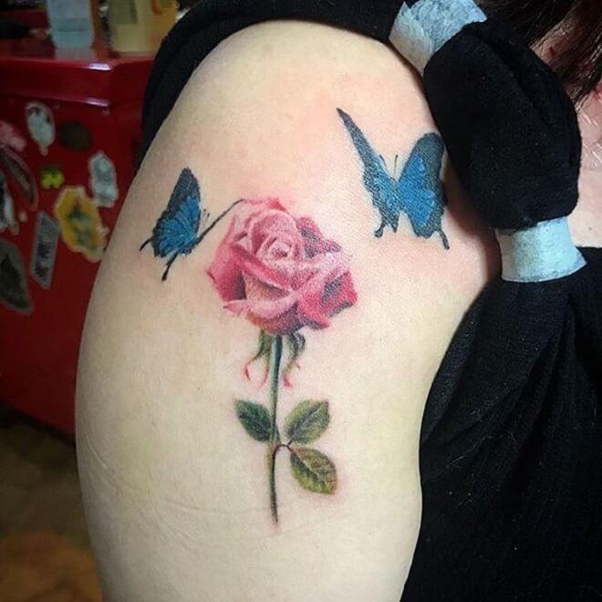 Japanese Rose Tattoo