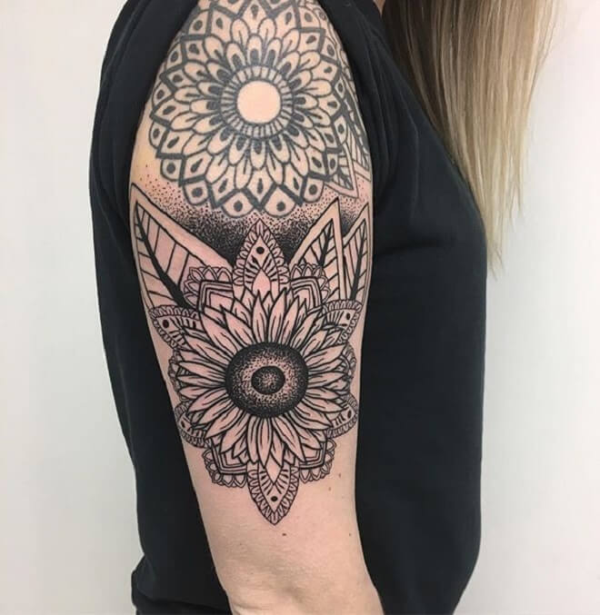 Lady Mandala Tattoo Art
