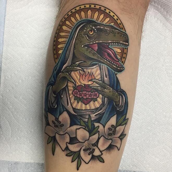 Leg Archive Tattoo