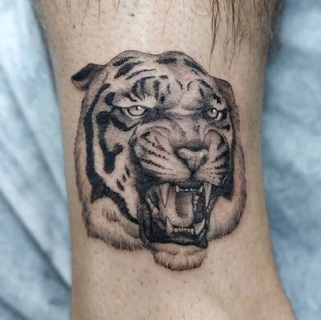 Leg Tiger Tattoo