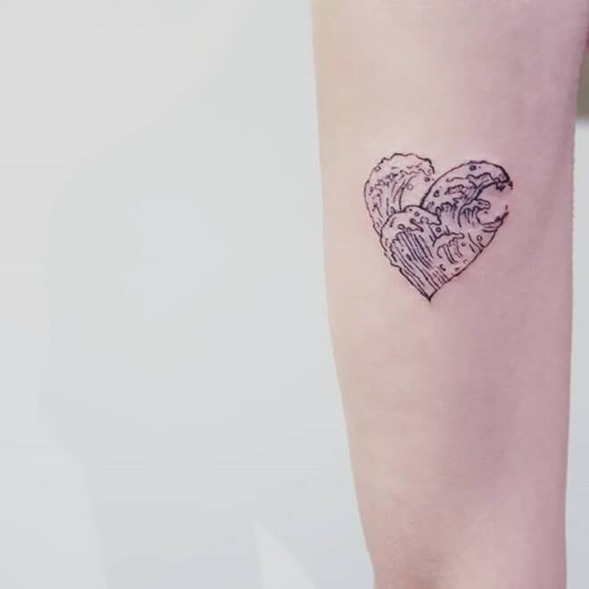 Love Wave Tattoo