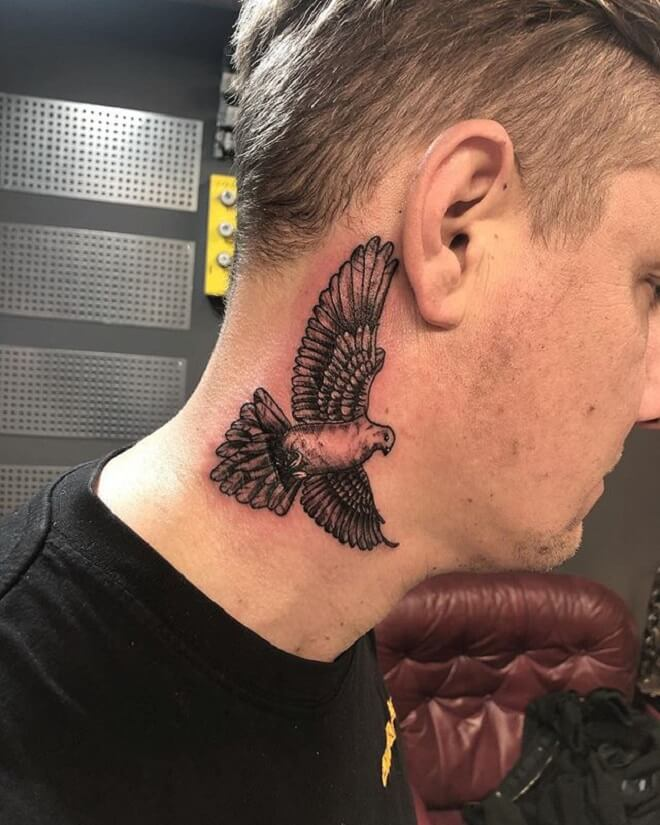 Men Style Dove Tattoo