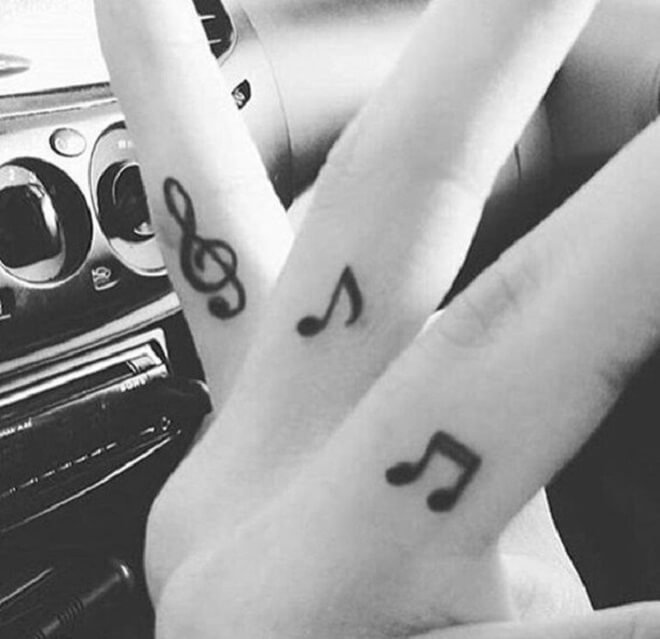 Music Finger Tattoos